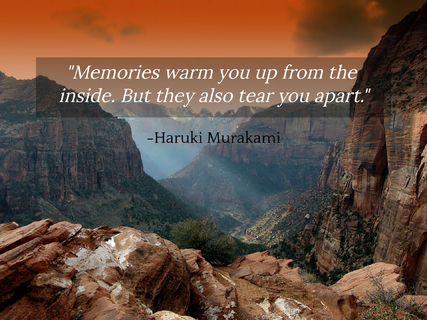 memories warm you up from the inside but they also tear you apart...