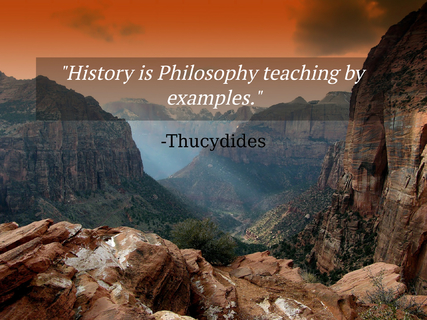 history is philosophy teaching by examples...