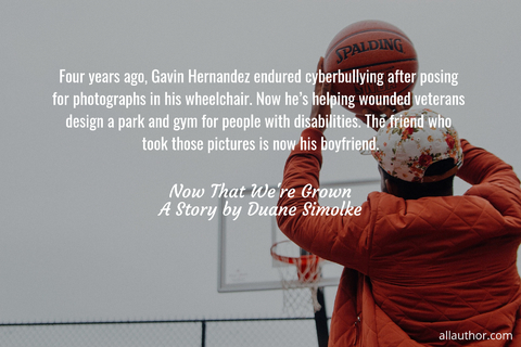 four years ago gavin hernandez endured cyberbullying after posing for photographs in his...