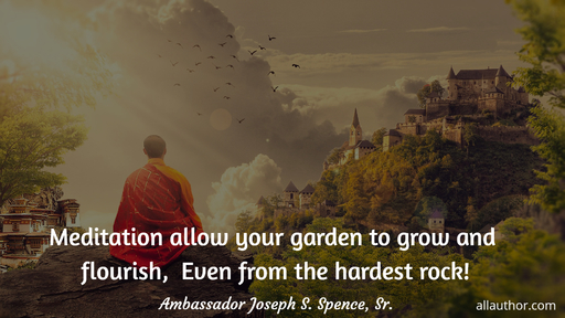meditation allow your garden to grow and flourish even from the hardest rock...