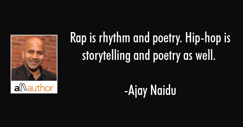 rap is rhythm and poetry hip hop is quote