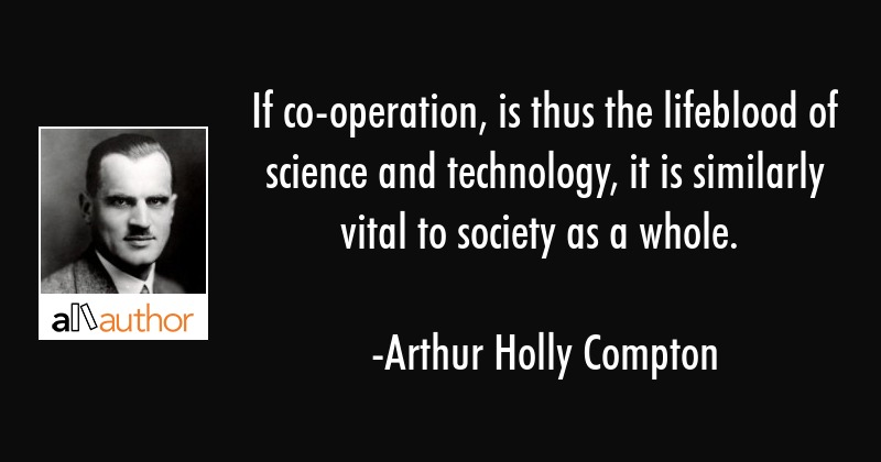 If co-operation, is thus the lifeblood of... - Quote