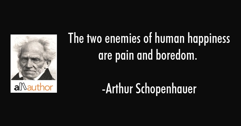 The two enemies of human happiness are pain... - Quote