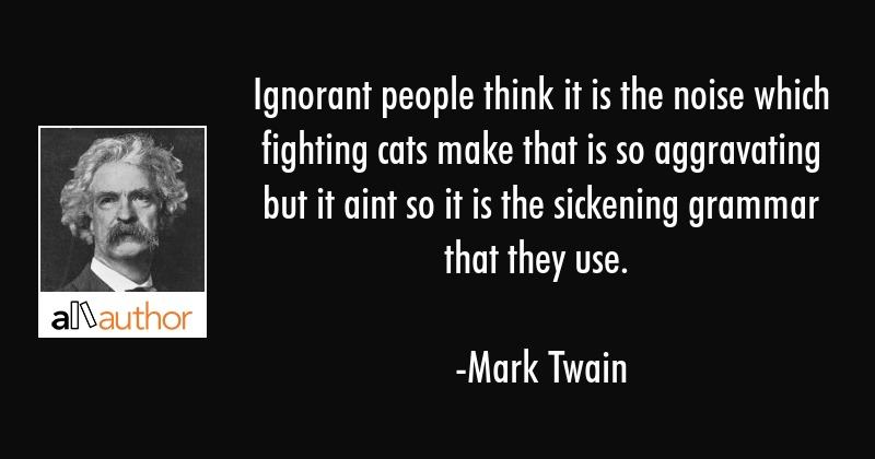 Ignorant people think it is the noise which... - Quote
