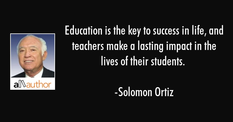 education is the key to success in life and quote