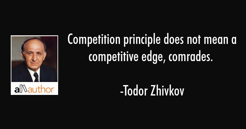 Competition principle does not mean a... - Quote